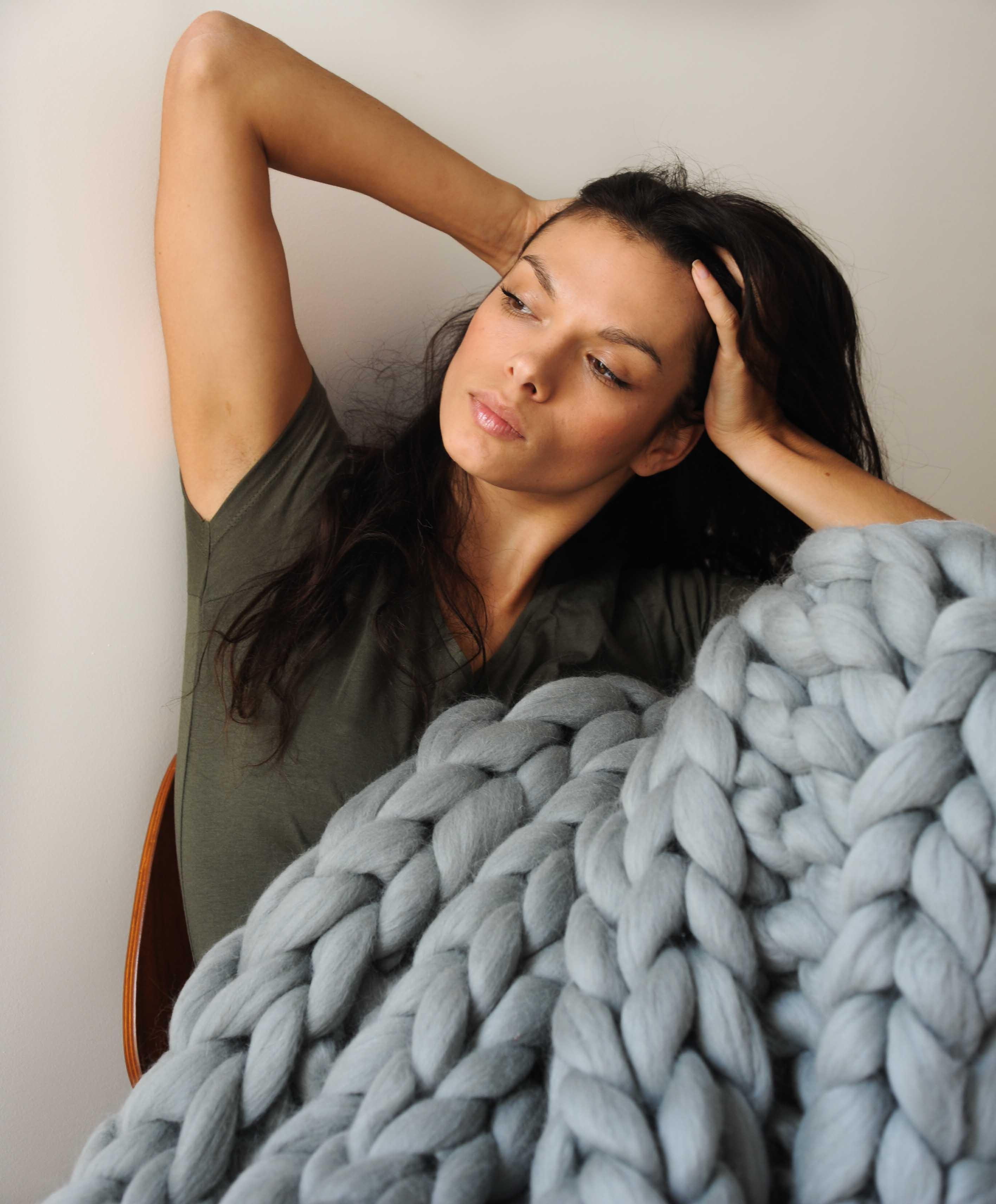 plaid en laine g ante 8 couleurs m rinos tricocooning. Black Bedroom Furniture Sets. Home Design Ideas