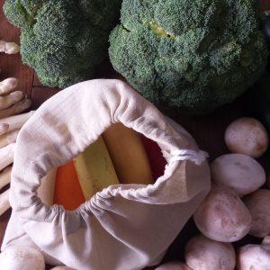 sac à lin fruits